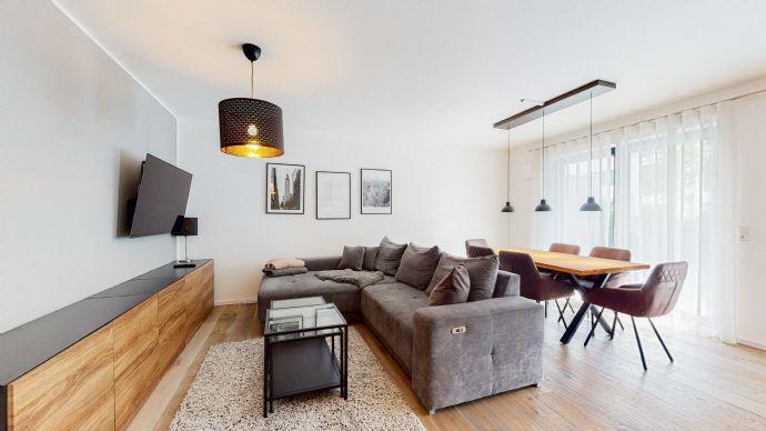 Vollständig möblierte und exklusiv ausgestattet 2-Zimmer Wohnung im EG