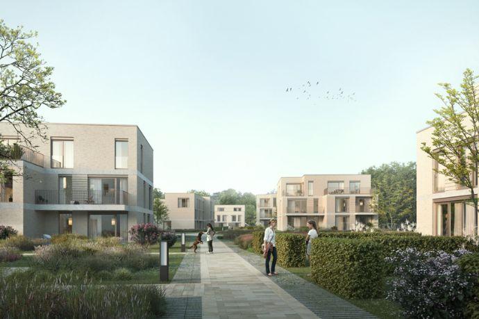 Mit Blick ins Grüne: Neubau Eckhaus in einmaliger, sehr ruhiger Lage in Bremen-St. Magnus!