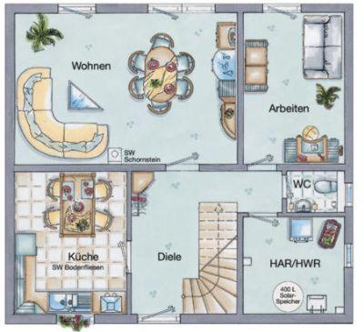 Grundriss  EG - 5-Zimmer-Variante