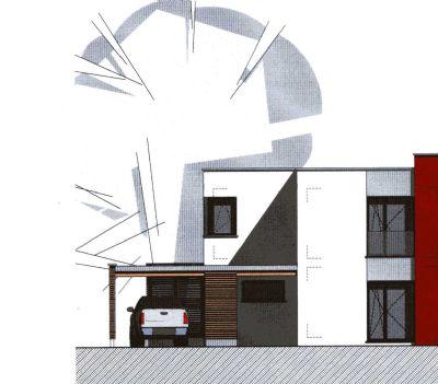 Künftige Hauseingangsseite