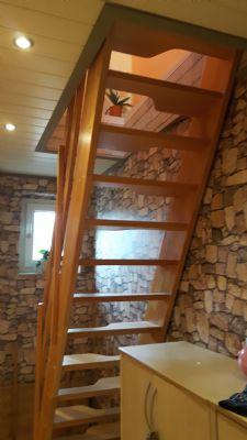 Treppenaufgang in Maisonettewohnung