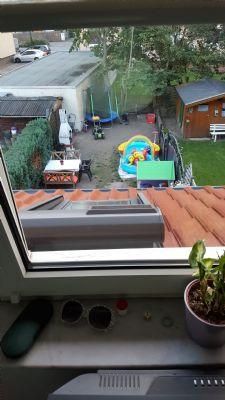 Blick in den Garten vom Schlafzimmer