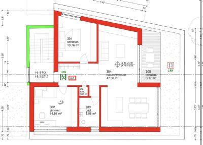 Design Penthouse 3 Raum Wohnung