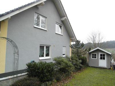 Ansicht von der Rückseite mit Gartenhaus