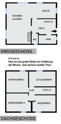 Skizze der Raumaufteilung