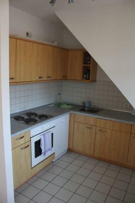 Küche einer Dachgeschosswohnung