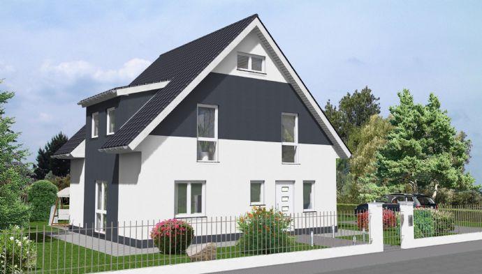 Im Alleinauftrag: Ludwigsfelde (Groß Schulzendorf): Hinteres Grundstück mit individuell geplanter Bebauung für ein Einfamilienhaus.
