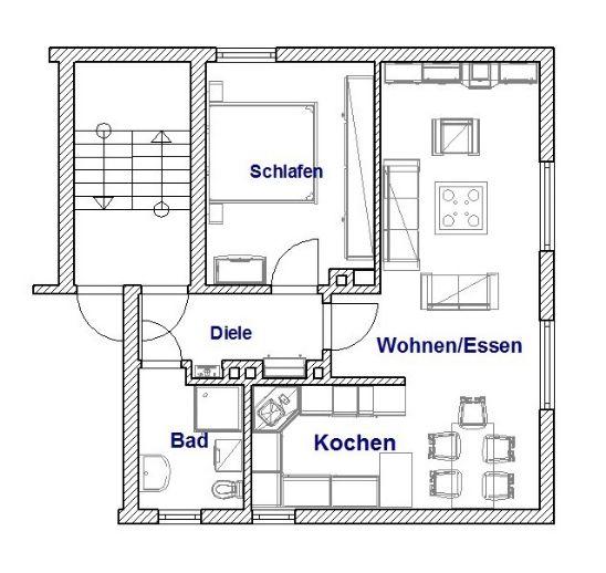 2 Zimmer-Wohnung im I.OG sucht neuen Mieter