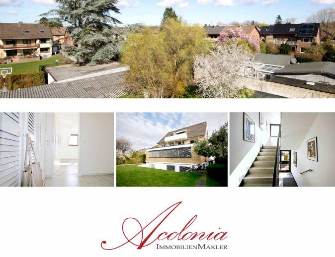 Acolonia Immobilienmakler: Hürth-Efferen - vermietetes Wohn-Bürohaus in attraktiver Lage