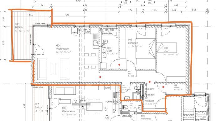 3-Zimmer-Neubau-Wohnung mit Balkon in Dossenheim zu vermieten