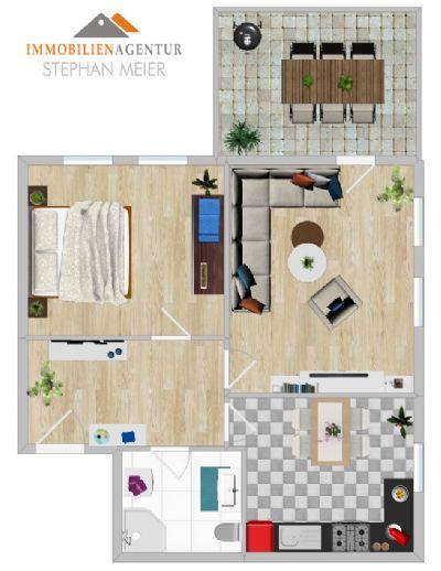 !!Altersgerechte 2-Raum-Wohnung | Fahrstuhl | Innenstadtlage | Kellerabteil | Terrasse!
