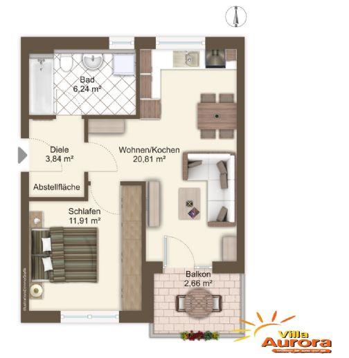 Helle 2-Zimmer-Wohnung in Fürth - Neubau