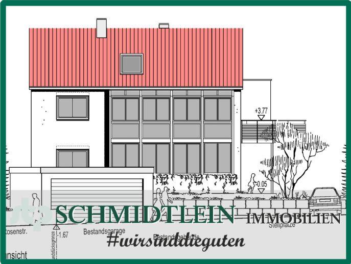 Zweifamilienhaus, mit Garage, plus Genehmigung für ein weiteres Einfamilienhaus in Veitshöchheim