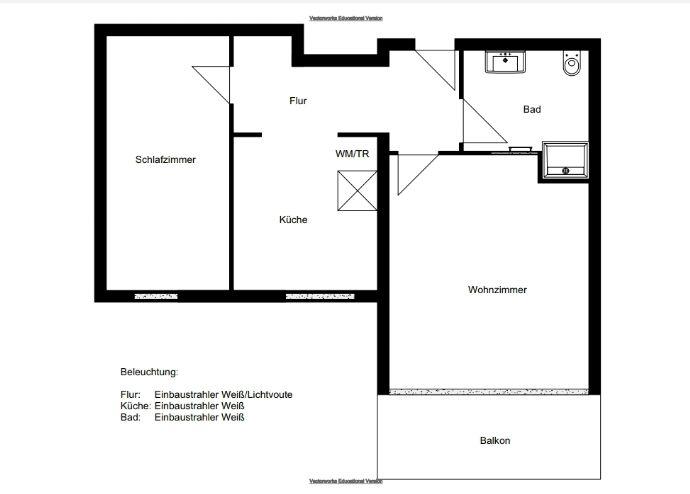 2-Zimmer-Stadtwohnung mit Balkon und Aufzug
