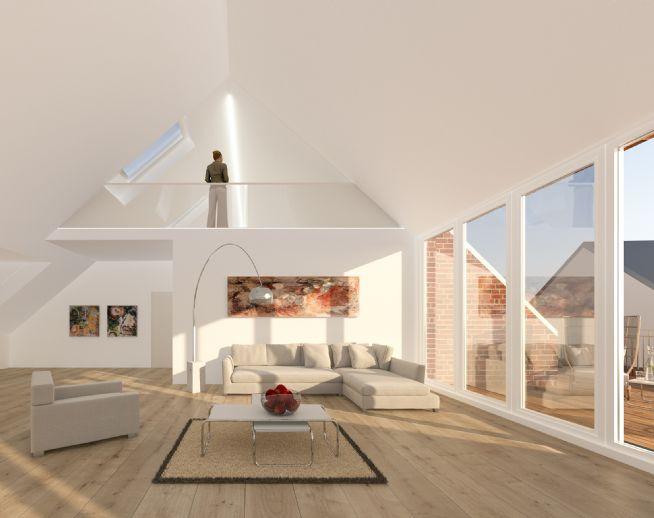 Liebhaberstück im Müllenhoffweg 66 : Penthouse Maisonette-Traum mit offener Galerie, großer Dachterrasse und Kaufpreiszahlung bei Fertigstellung