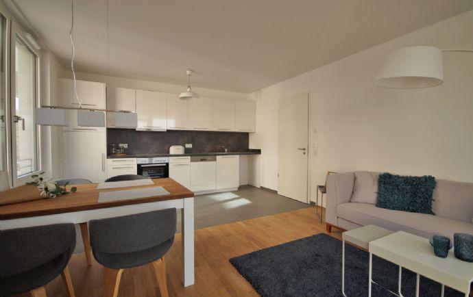 Top moderne 2 Zimmer mit Einbauküche, Fußbodenheizung und Blick zum Hafen!