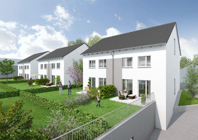 Einfamilienhäuser in Doppelhausform mit Dachstudios einschließlich zwei Tiefgaragenstellplätzen (rechte Haushälften)