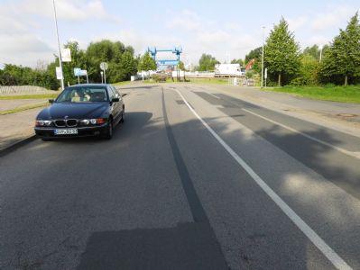 Radweg zur Peenebrücke