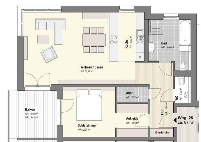 grundriss schlafzimmer mit ankleide. Black Bedroom Furniture Sets. Home Design Ideas