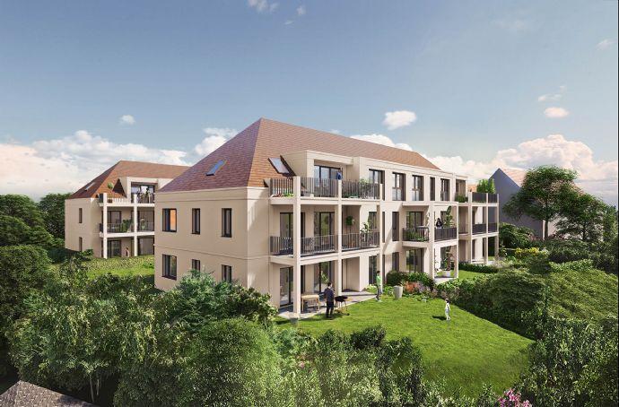Lichtdurchflutetes 3-Zimmer-DG-Juwel mit tollem Schnitt, großzügigem Balkon und Tageslichtbad - NEUBAU Schwabach-Auen - 80% bereits verkauft