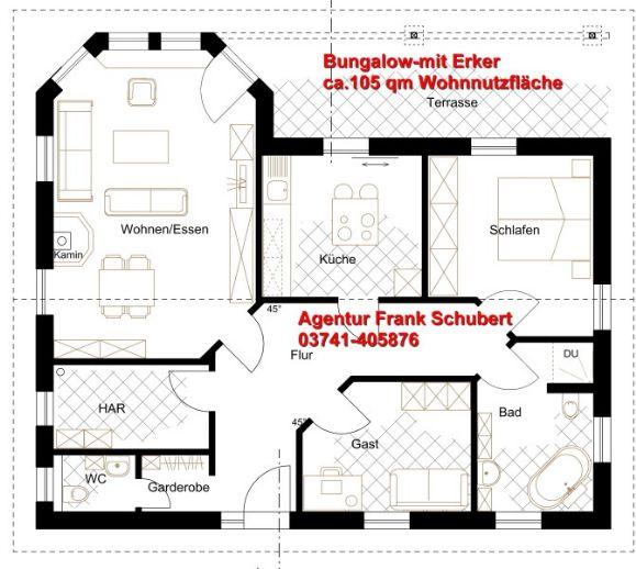 wohlf hlzuhause bungalow mit sch ner architektur plauen c58100ee. Black Bedroom Furniture Sets. Home Design Ideas