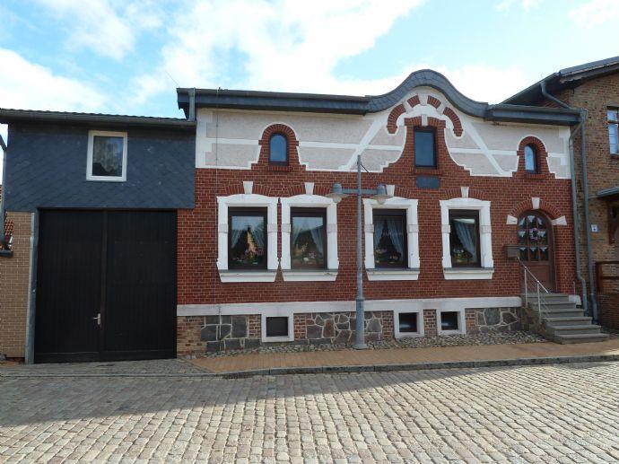 Schönes Stadthaus mit einzigartiger Fassade in Lassan am Peenestrom