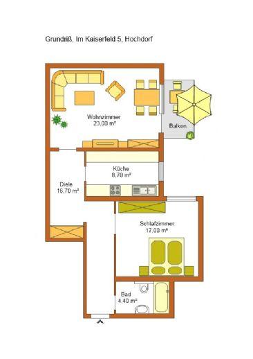 Provisionsfrei - 2-Zimmer-Wohnung in Eberdingen