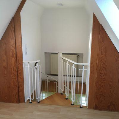 Treppe vom Spitzboden