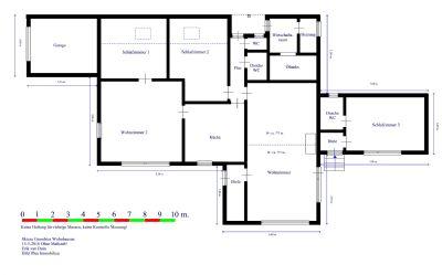 Skizze Grundriss Wohnhaus