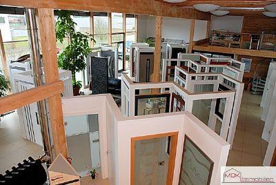 Blick vom vorderen Zwischengeschoss (Büro/Archiv))