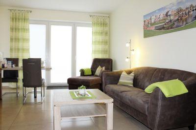 Ferienwohnung Grachtentraum 2, helle Erdgeschosswohnung mit gehobener Ausstattung und moderner Unterhaltungselektronik