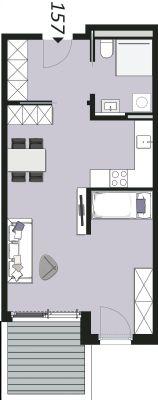 Beispielgrundriss Wohnung 157