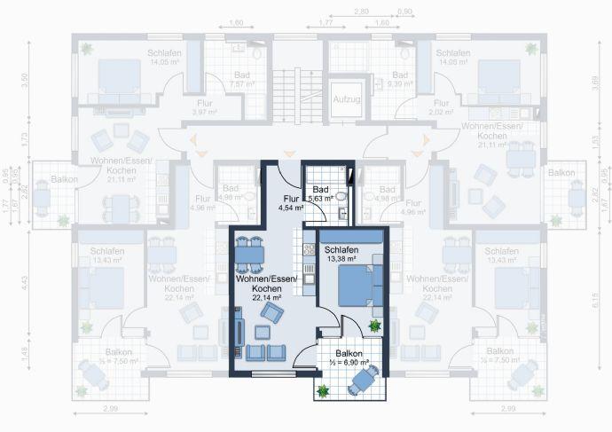 Attraktive 2 Zimmer Wohnung