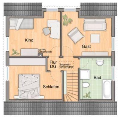Flair 113 Grundriss Dachgeschoss