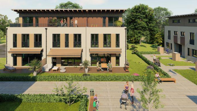 Wohngebiet W7 Lerchenwinkel, Neubau von 4 Dreispännern (12 Reihenhäuser) mit je 2 Tiefgaragen Stellplätzen - Haus 5