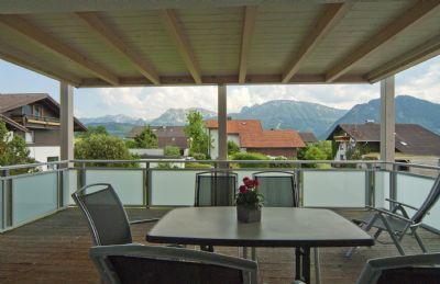 Ferienwohnung Aggenstein, Terrassen-Balkon mit Panorama-Bergblick, ruhige Lage, mit KönigsCard, tägl. 3-Std.-Skipass gratis