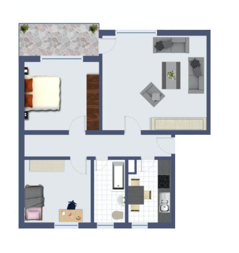 Frisch sanierte 3-Zi-Wohnung mit Tiefgaragen-Stellplatz