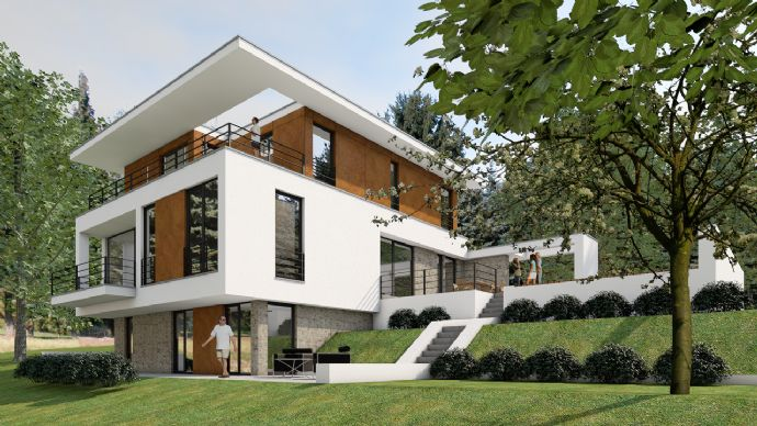 Avantgartische Bauhausvilla in Seenähe