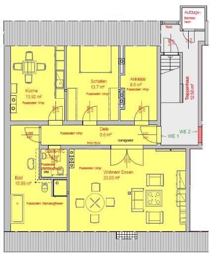 Wohnen in Pempelfort! 3-Zimmer in komplett neu erstellter Dachgeschosswohnung, mit Aufzug!