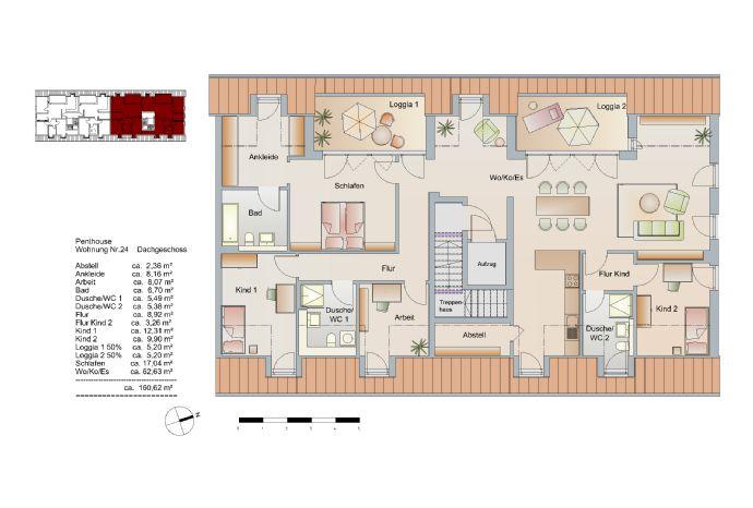 5-Zi-Penthaus-Wohnung mit 3 Bädern 2