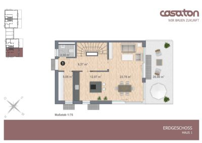 Grundriss EG Haus 1