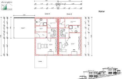 Unter-/Kellergeschoss DHH 1 und DHH 2