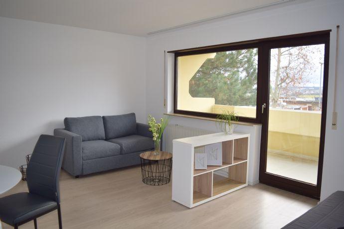 Möblierte und renovierte 1-Zimmer Wohnung mit Südbalkon und Stellplatz, sehr gute Lage in Tamm!