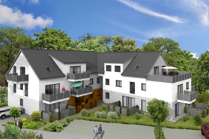 W2 - Neubau 2-Zimmer Terrassen-Wohnung mit ca. 62,68 m² in Lippstadt Cappel (Whg 2)