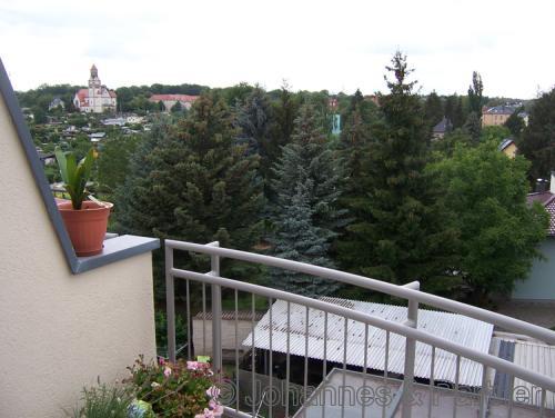 2 Zimmer-Wohnung im Dach mit Balkon und idyllischem Blick
