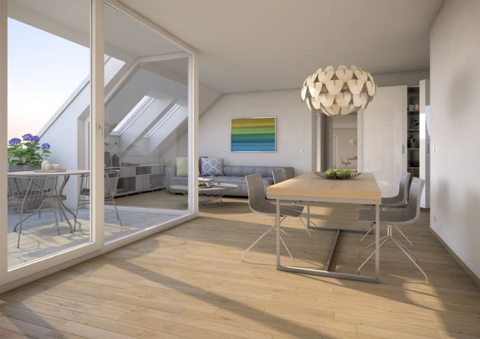 Traum-Dachwohnung mit Südterrasse im charmanten Neubau! 4 Zimmer, Grünes Umfeld, ansprechende Ausstattung, gute Infrastruktur, Top-Preis!