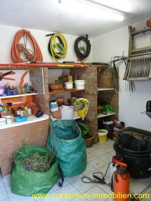 Raum für Gartengeräte