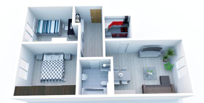 neu renovierte helle 3-Raum-Wohnung