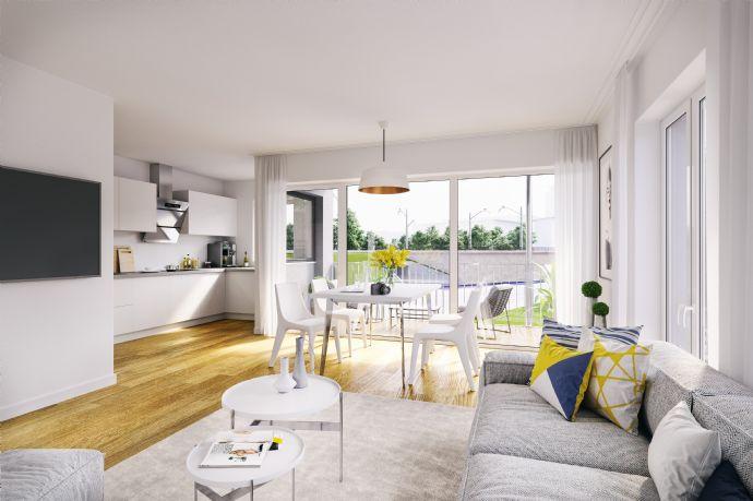 KAUFEN ist sicherer als Mieten, geräumige 4-Raum Wohnung mit Balkon im entstehenden Neubau
