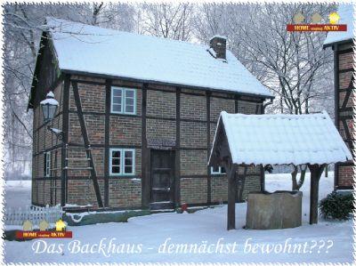 Das Backhaus hat auch im Winter seinen Reiz.